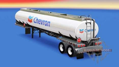A pele da Chevron no tanque de combustível para American Truck Simulator