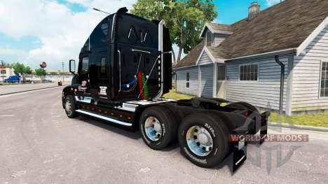 A pele em NÓS caminhão Freightliner Cascadia para American Truck Simulator