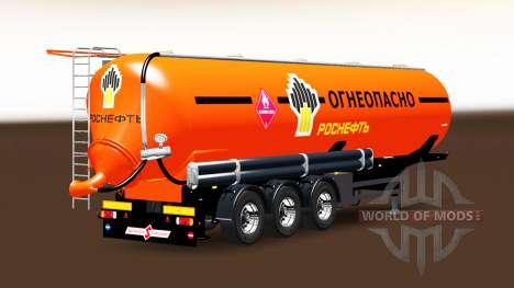Tanque de combustível, semi-reboque Rosneft para Euro Truck Simulator 2