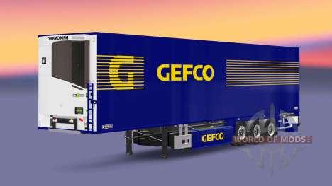 Semi-reboque frigorífico Chereau Gefco para Euro Truck Simulator 2