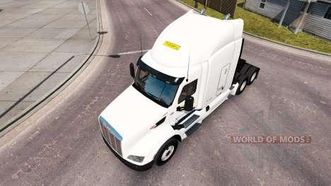 Pele J. B. Hunt caminhões Peterbilt e Volvo para American Truck Simulator