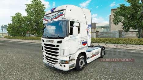 A rússia pele Branca para o caminhão Scania para Euro Truck Simulator 2