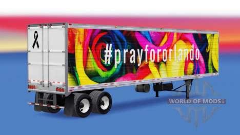 Pele PrayForOrlando no trailer para American Truck Simulator