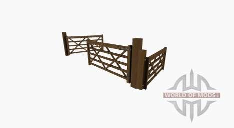 Portão de madeira para Farming Simulator 2017