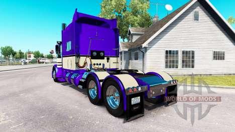 Metalizado Roxo da pele para o caminhão Peterbil para American Truck Simulator