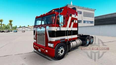 Barão vermelho pele para Kenworth K100 caminhão para American Truck Simulator