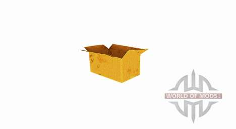 Caixa de papelão ondulado com uma parte superior para Farming Simulator 2017
