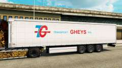 Pele de Transporte Gheys na semi