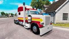 A pele do IN-N-OUT para o caminhão Peterbilt 389