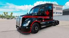 Pele Canadense Express Preto caminhão Kenworth