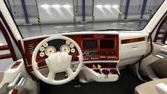 O interior é Retro Dial para Kenworth T680