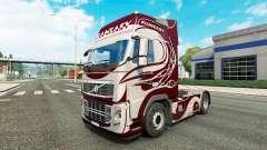 Fantasia de pele para a Volvo caminhões