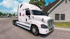 Pele de Carga em um caminhão Freightliner Cascad