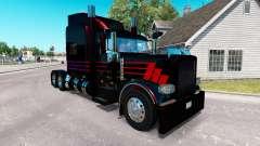 Pele Negra SR no caminhão Peterbilt 389