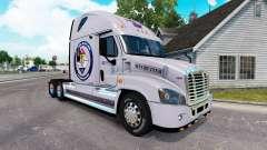 Pele Protegida Terra para um trator Freightliner