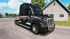 A pele de MARTA no caminhão Freightliner Cascadi