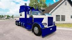 A pele Azul e Branco para o caminhão Peterbilt 3