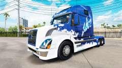 Azul pele de Tubarão para a Volvo caminhões VNL
