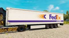 A FedEx pele para reboques