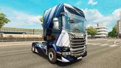 Listras azuis pele para o Scania truck