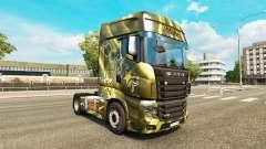 Peles de Bebidas Energéticas no tractor Scania R