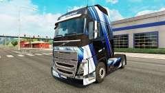 Listras azuis pele para a Volvo caminhões