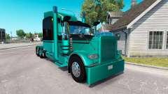 4 Metalizado pele para o caminhão Peterbilt 389