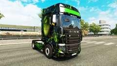 A pele do Monstro no trator Scania R700