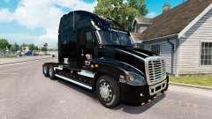 A pele em NÓS caminhão Freightliner Cascadia