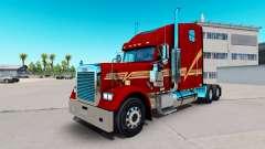 Pele Beggett no caminhão Freightliner Clássico X