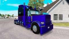 3 Metalizado pele para o caminhão Peterbilt 389
