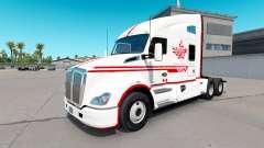 Pele Canadense Express Branco trator Kenworth