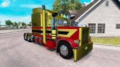Peles Metalizado 7 para o caminhão Peterbilt 389