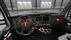 Interior Vermelho de Discagem para Kenworth T680