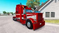 6 Metalizado pele para o caminhão Peterbilt 389