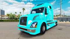 Azul incêndio pele para a Volvo VNL 670 caminhão