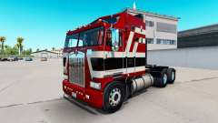 Barão vermelho pele para Kenworth K100 caminhão