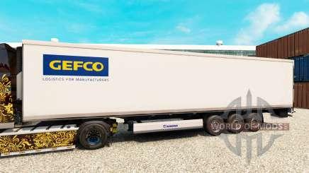 Pele Gefco para o semi-refrigerados para Euro Truck Simulator 2