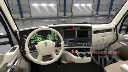 Interior Verde de Discagem para Kenworth T680 para American Truck Simulator