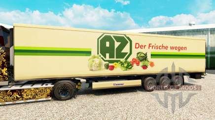 Pele AZ para o semi-refrigerados para Euro Truck Simulator 2