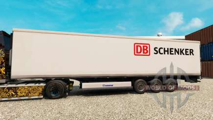Pele DB Schenker para o semi-refrigerados para Euro Truck Simulator 2