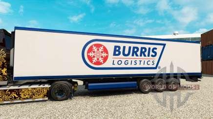 Pele Burris Logística para o semi-refrigerados para Euro Truck Simulator 2