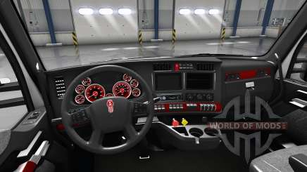 Interior Vermelho de Discagem para Kenworth T680 para American Truck Simulator