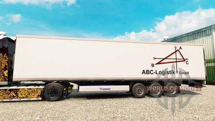 Pele ABC-Logística para o semi-refrigerados para Euro Truck Simulator 2