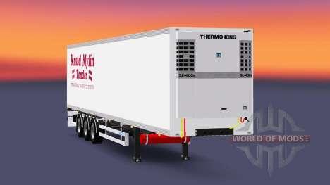 Semi-reboque-o frigorífico Knuy Mylin Narko para Euro Truck Simulator 2