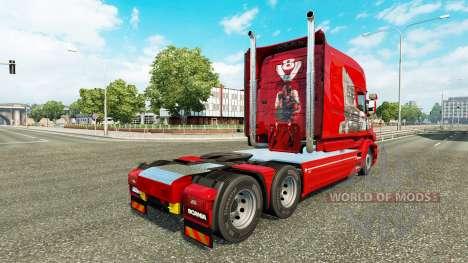 Pele Scania História no caminhão Scania T para Euro Truck Simulator 2