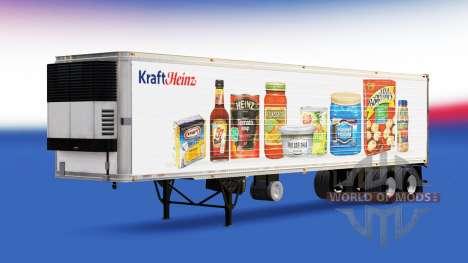 Pele Kraft Heinz no trailer para American Truck Simulator