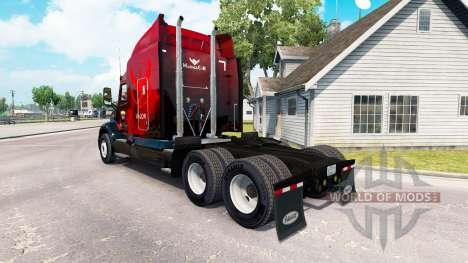 Valor pele para o caminhão Peterbilt 579 para American Truck Simulator