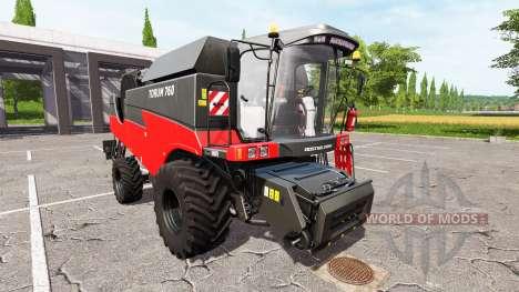 Eu Rostselmash 760 Tora vermelho para Farming Simulator 2017