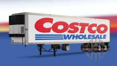 Pele Costco Wholesale no trailer para American Truck Simulator
